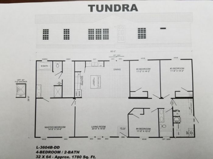Tundra 4bed/2bath  32x64